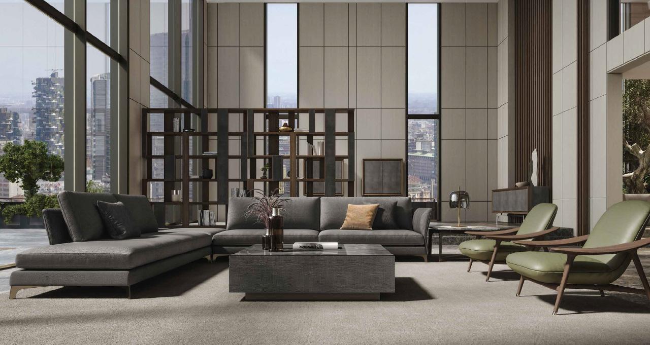 BLOSSOM divano componibile | CLIFF tavolino | GAIA poltrona | WAVE tavolino | ZOE libreria