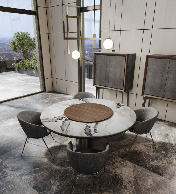 GEO tavolo | LESLIE sedia | ZOE mobile bar