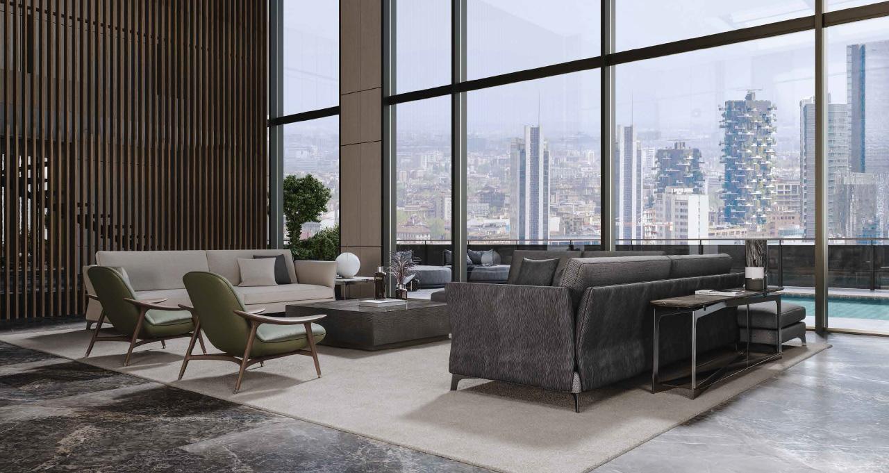 BLOSSOM divano componibile | CLIFF tavolino | GAIA poltrona | WAVE tavolino