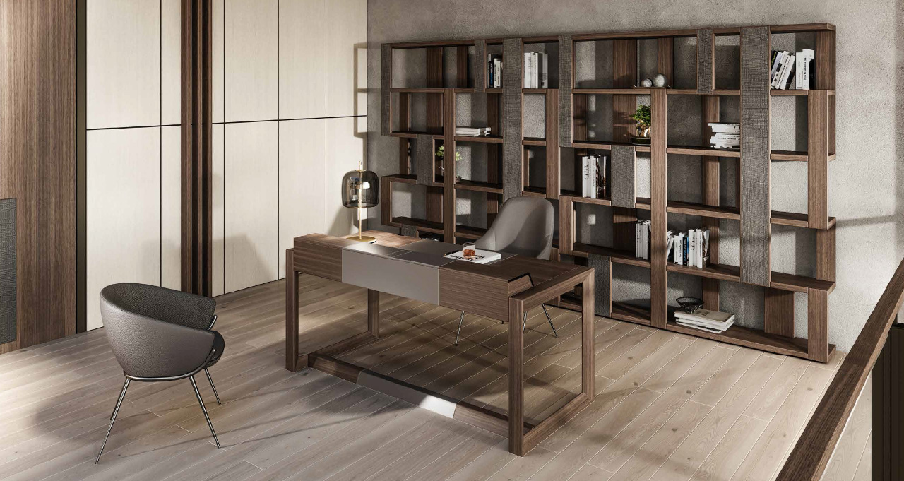 ZOE libreria | DAHLIA scrivania | LESLIE poltroncina | LESLIE sedia