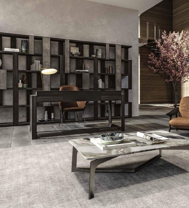 ZOE libreria   DAHLIA scrivania   GAIA poltrona   WAVE tavolini