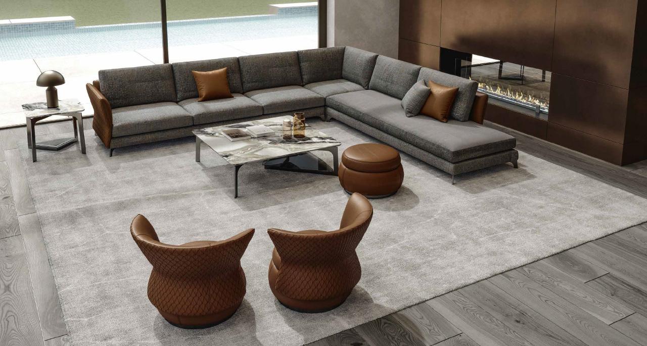 BLOSSOM divano componibile   TULIP poltrona   TULIP pouff   LOTUS tavolini